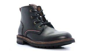 TOMMY-HILFIGER-HUGOBLMLE-HUGO-Mn-039-s-M-Black-Leather-Casual-Boots