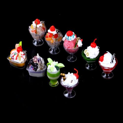 Dollhouse Mini Food Decor Cream Fruit Cup Ice cream cup Simulation Kid Toy