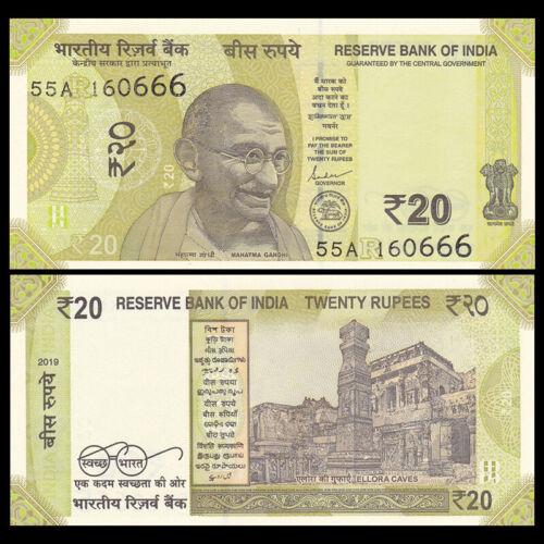 UNC India 20 Rupees P-New 2019