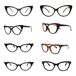 Vintage-Anos-50-Anos-60-Estilo-Lente-Transparente-Ojos-de-Gato-Oficina