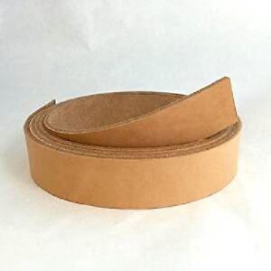 Hermann Oak Veg Tan Cowhide Leather Belt Strips, 9/10oz Varying Widths & Lengths