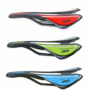 3K Full Carbon Fiber Bike Seat Oval Rail MTB Road Bike Racing Saddle Hollow Seat