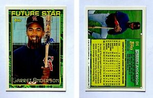 Garret-Anderson-Signed-1994-Topps-84-Card-California-Angels-Auto-Autograph