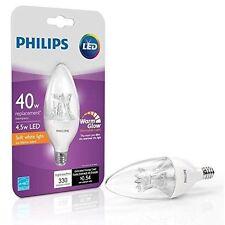 4- NEW Philips LED Chandelier 457119 40 Watt Dimmable E12 Decorative Light Bulbs