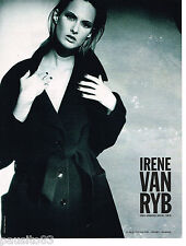 PUBLICITE ADVERTISING 065  1997  IRENE VAN RYB   haute couture manteau