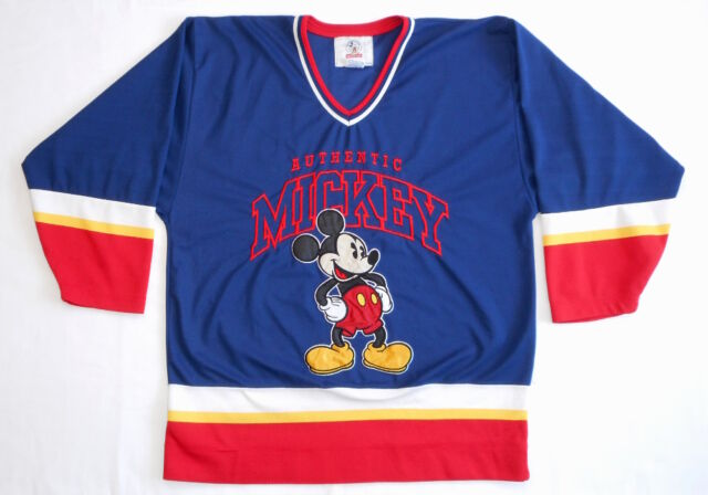 VINTAGE JERSEY SHIRT 90's Mickey Mouse AUTHENTIC Starter HOCKEY Disney Embroider