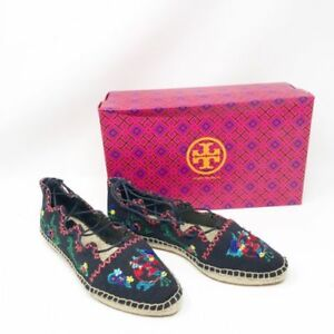 06967a048f1d Image is loading New-Tory-Burch-Womens-Sonoma-Embroidered-Ghillie-Flat-