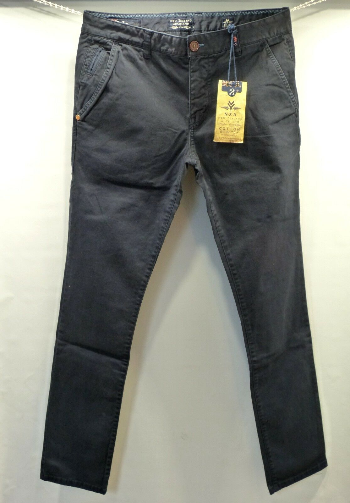 New Zealand Auckland Hose Herren Chinos 13GN621 Napier Stretch Twill Navy
