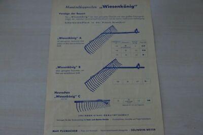 197759) Max Plumacher - Handschlepprechen Wiesenkönig - Prospekt 195? GroßE Auswahl;