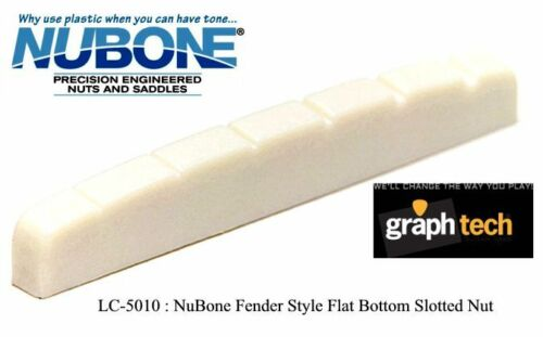 GRAPH TECH NUBONE TUSQ FENDER STYLE SLOTTED NUT FLAT BOTTOM FOR STRAT /& TELE