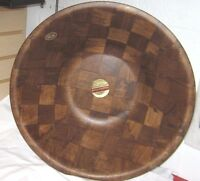 Weavewood American Walnut Large 18 Wood Salad/ Dough Bowl With Tags