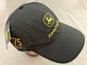 b692830f74186 Black Yellow JOHN DEERE Ball Cap Hat - Adjustable - One Size Fits ...
