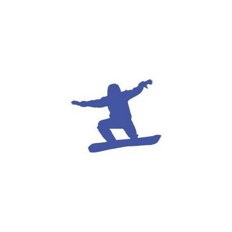Autocollant snowboard sticker ski couleur bleu logo 1 Taille:4 cm