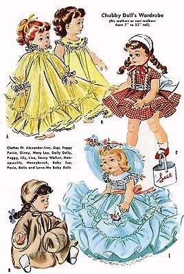 """17/"""" 2084 Doll Pattern Wardrobe Fits Saucy Walker Dolls 16/"""""""