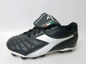 b2668752 Details about Diadora Soccer Cleats Black White Shoes Toddlers 11 Boys  Leather Sneaker Lace Up