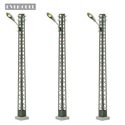 Modell bahnleuchten Gittermastleuchte,spur H0 licht Layout Neu 3 Stk