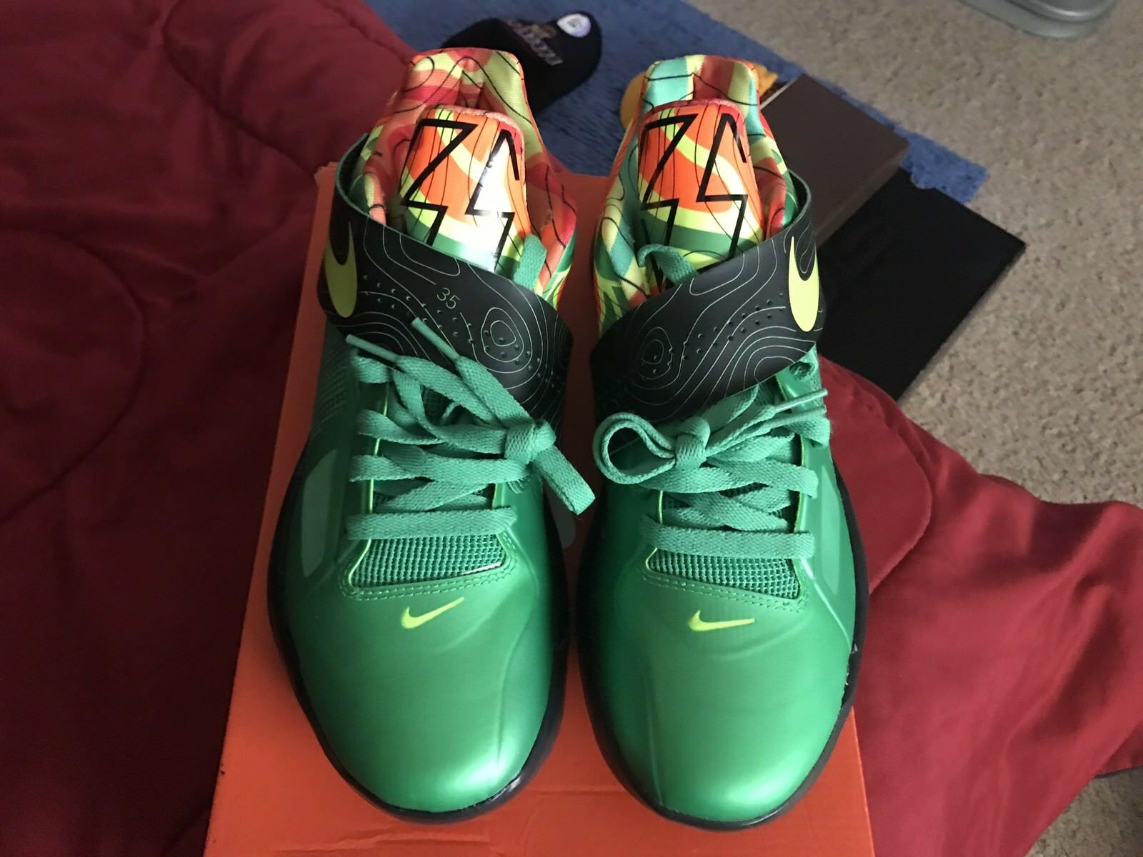 best loved 72459 860fa Nike KD KD KD IV 4 Weatherman.Nike basketball.Kevin Durant.9.5 El último  descuento zapatos para hombres y mujeres 85d7a5