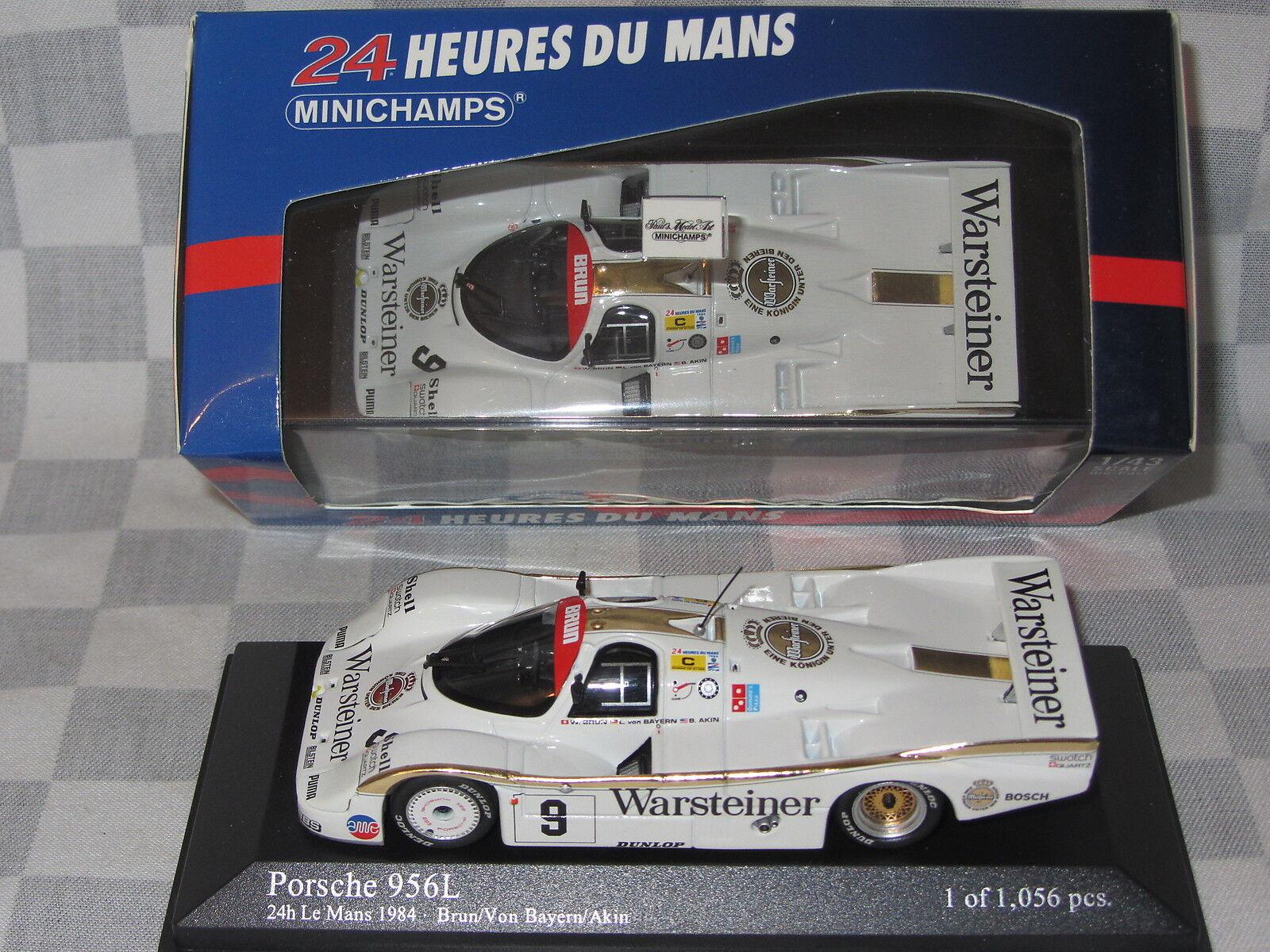 Spark 1:43 S7504 Porsche 956B Brun Warsteiner Le Mans 1984 Brun//von Bayern//Akin