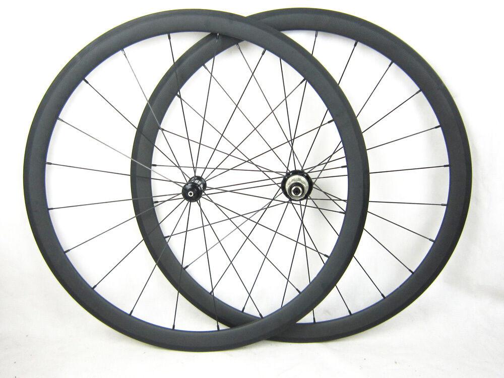 Speedcarbon11 38mm clincher full carbon fiber road bike wheels carbon hub