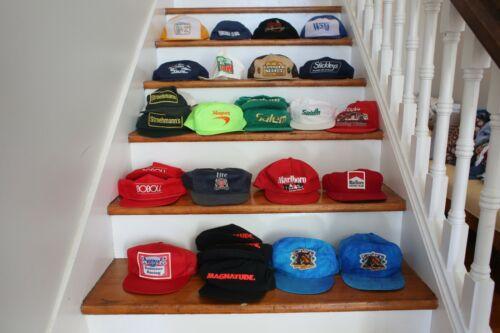 lot of 26 trucker snapback hats, vintage racing, c
