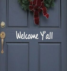 "Front Door Welcome Vinyl Decal Sticker 11.5/""/"" Home Decor  Design#105"