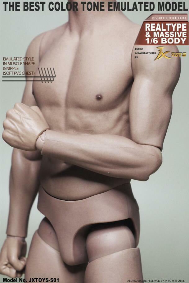 1 6 Male muscular body JXtoys S01 S01 S01 NARROW SHOULDER  12  Figure  Bruce Lee ❶USA❶ d2e95f