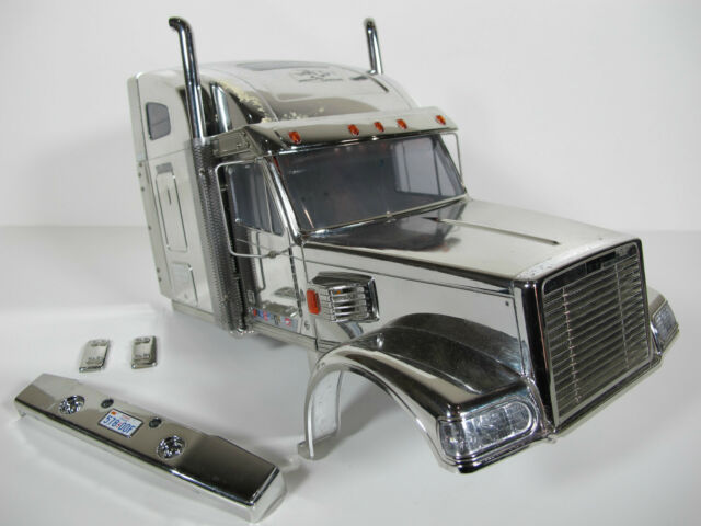 USED Tamiya 1/14 RC Chrome Edition Knight Hauler Body Shell Cab with chrome chip