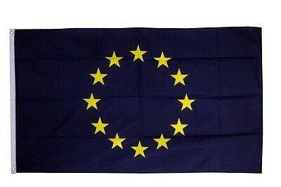 European Union EU Flag 3 x 2 FT 100/% Polyester With Eyelets Stars Euro