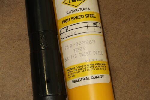 """Black Oxide new TWILL Cutting Tools 15//16/"""" MTS Taper Shank HSS Twist Drill Bit"""