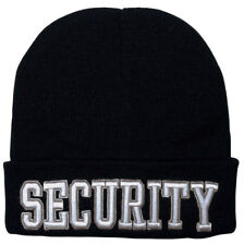 Black Embroidered Security Beanie Watch Cap Deluxe Acrylic Rothco 5342