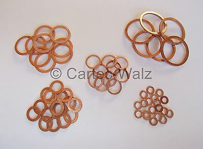 10 piece Copper Sealing Ring Gasket Copper 27x32x2 mm Din 7603 form a