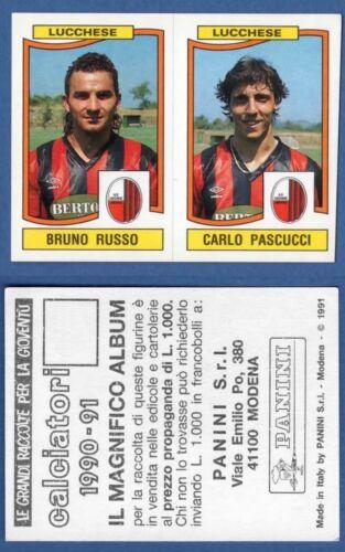 FIGURINA CALCIATORI PANINI 1990//91 LUCCHESE 410 RUSSO//. NUOVA//NEW N
