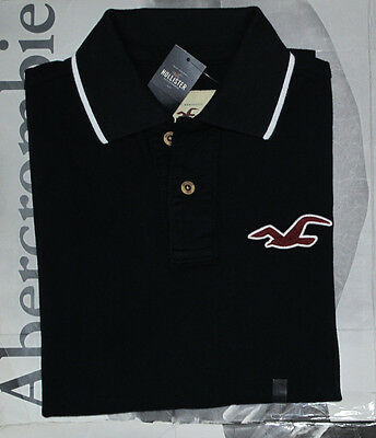 NWT HOLLISTER HCO By Abercrombie Men Muscle Slim Fit River Jetties Polo T Shirt