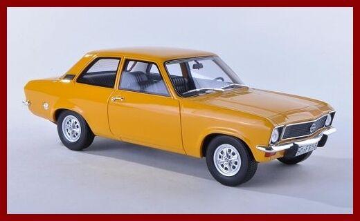 Opel Ascona A Limousine 2 porte 1973 Dark jaune  Jaune Orange Bos Resin 1 18  marque