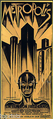 Australian ART DECO  VINTAGE PRINT MOVIE FILM POSTER METROPOLIS 900mm