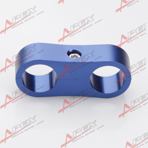 AN10 Fuel Oil 19MM Blue Braided Hose Separator Clamp Fitting Adapter AN -10