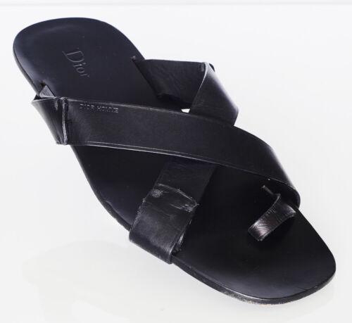 Dior Men's Black Leather Sandals Sz 10