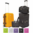 Rome 4Pc Carry-on Hardside Roller Rolling Duffel Bag Luggage Set