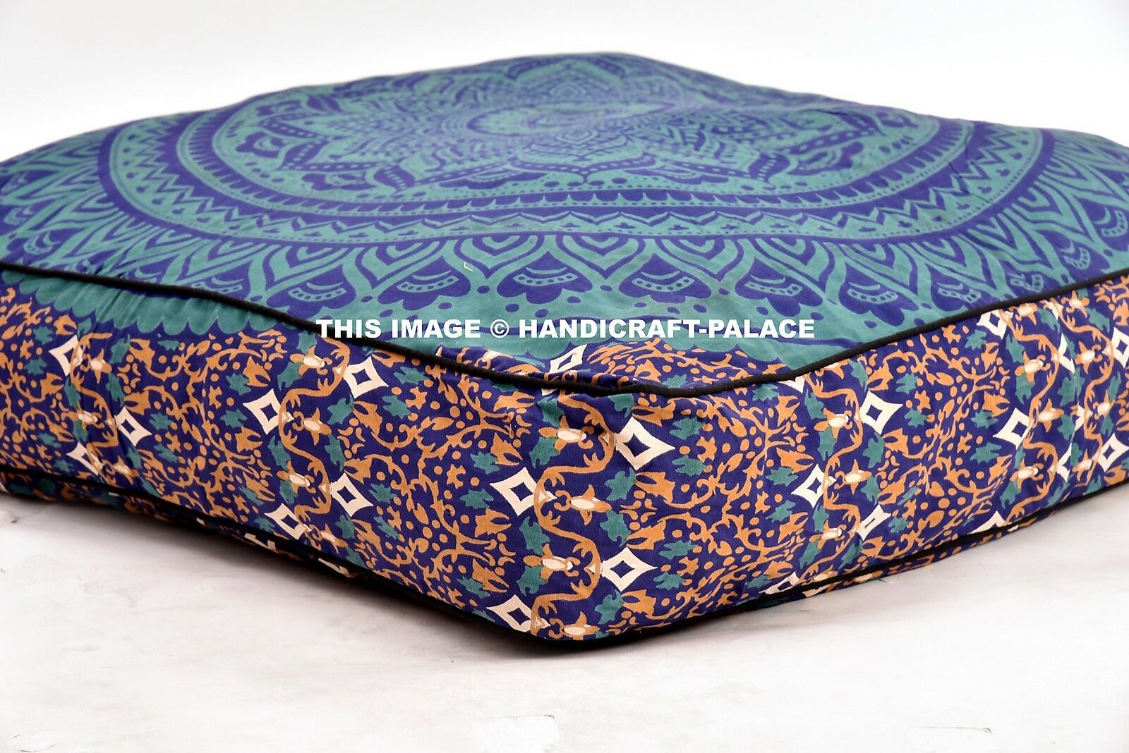 Indian Ombre Mandala Large Dog Bed Pillow Case Pets Bed Ethnic Floor Bed Seating