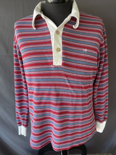 VTG 80's OP Ocean Pacific Red Striped Polo Board S