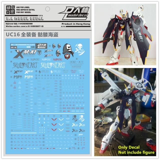 D.L high quality Decal water paste For Bandai RG 1//144 Crossbone XM-X1 X1 Gundam