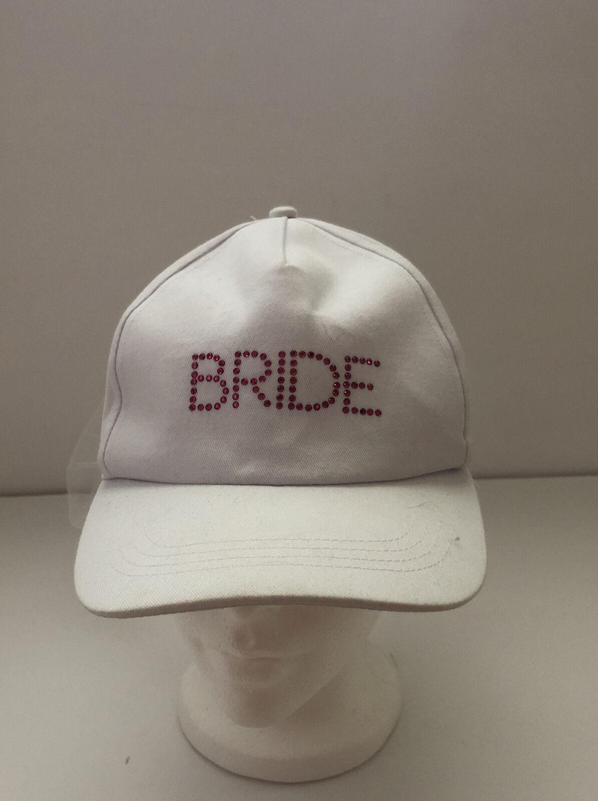 Bride With Veil Wedding Ball Cap Hat Adjustable Baseball Adult