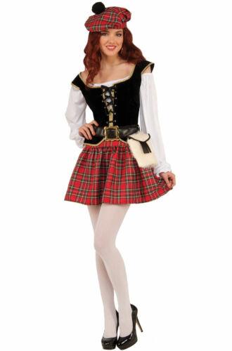 Red Kilt Irish Adult Costume Saucy Scottie