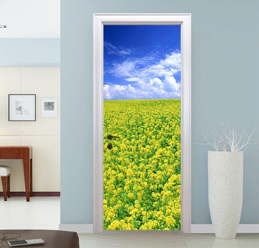 3D Rapsfeld 70 Tür Wandmalerei Wandaufkleber Aufkleber AJ WALLPAPER DE Kyra | Komfort  | Klein und fein  | Große Auswahl