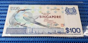 Singapore-Bird-Series-100-Banknote-A-15-801798-Nice-Prosperity-Number-Currency