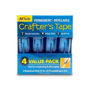 Ad-Tech-Permanent-Crafter-039-s-Tape-0-31-by-315-Inch-4-Per-Package