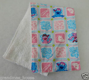 Burp Cloth Aqua Chevron 1 Only Towelling Back GREAT GIFT IDEA!!