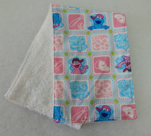 Sesame Street Babies Burp Cloth 1 Only Towelling Back GREAT GIFT IDEA!!