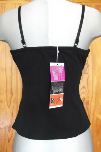 Miss Awesome Size 14 Zip Front Lace Camisole Top Black
