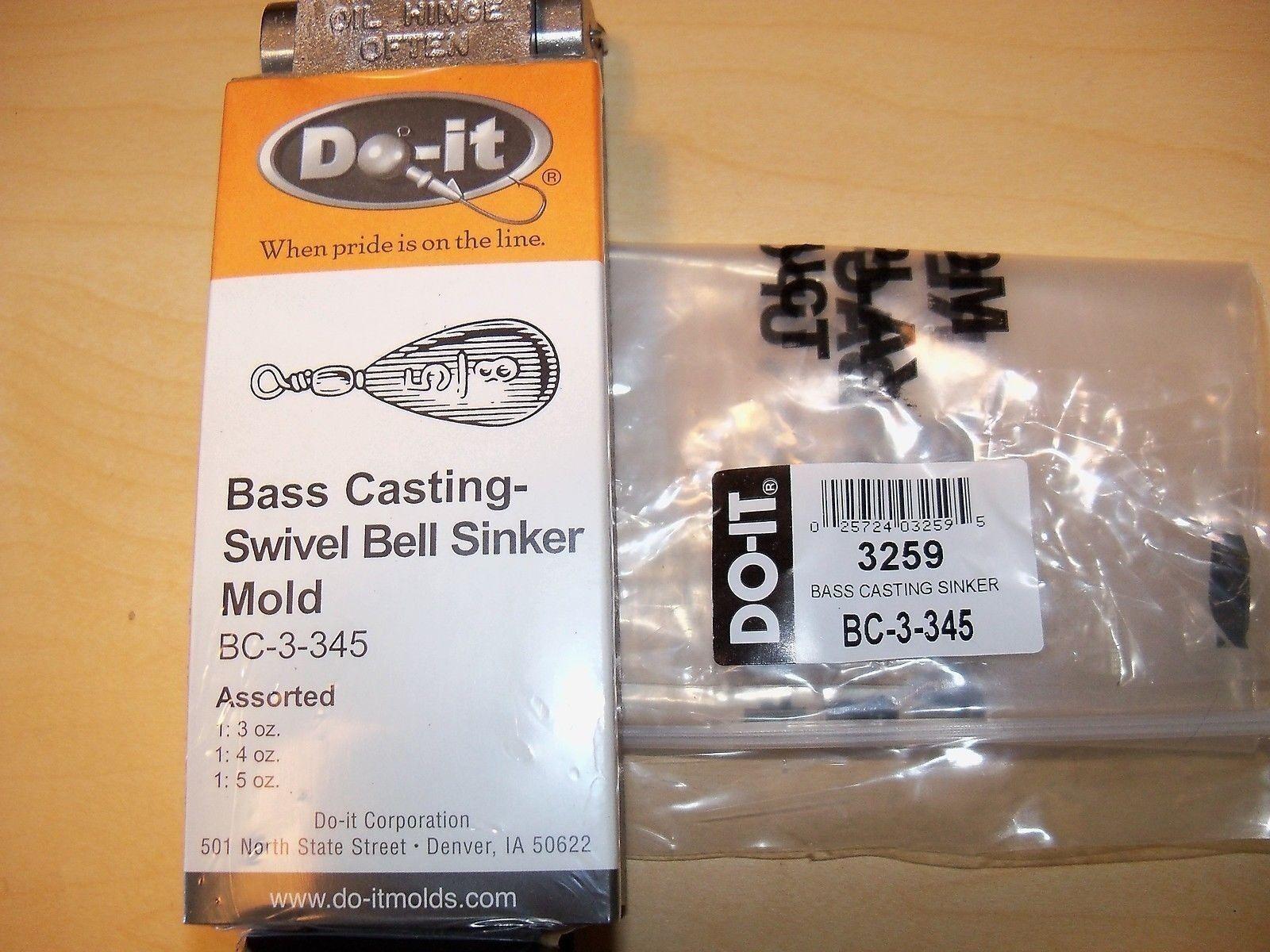 3259 NEW DO-IT SINKER MOLD BASS CASTING SZ 3, 4, 5 oz., BC-3-345